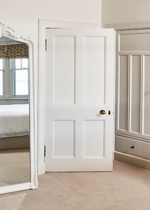 White handcrafted internal door