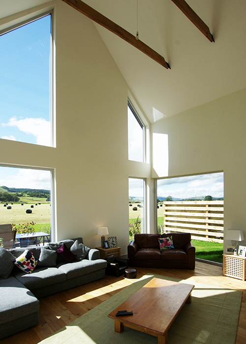 Modern frameless windows