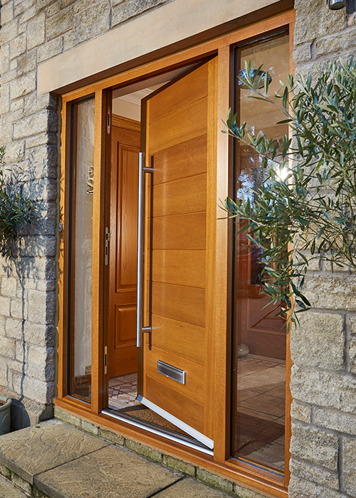 Modern external timber door